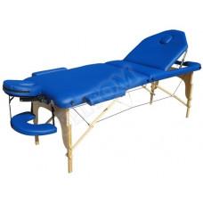 MET Coinfy PROFESSIONAL 03 Стол массажный на деревянном каркасе, с трёхсекционной панелью синего цвета