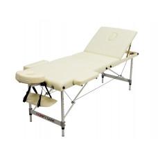 MET Coinfy STANDART 03 Стол массажный, алюминиевый 3-х секционный, кремовый