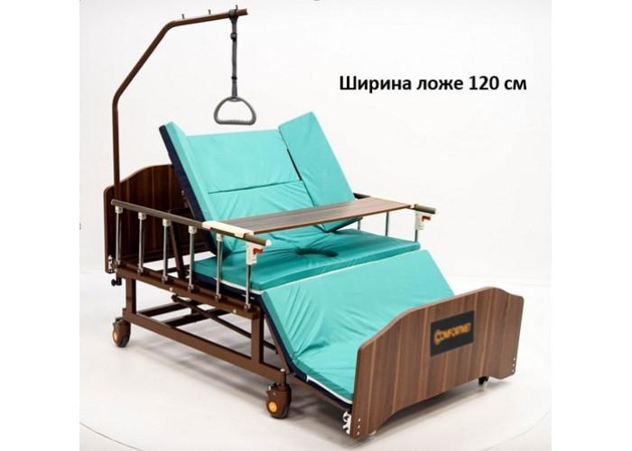 MET REVEL XL (120см) Электрическая медицинская кровать для ухода за лежачими больными с переворотом и туалетом с увеличинной шириной ложа