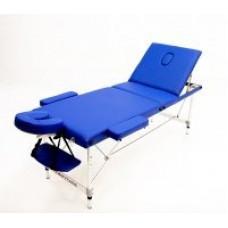 MET Coinfy STANDART 03 Массажный стол, деревянный, 3-х секционный, синий