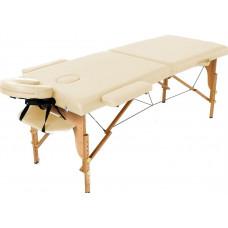 MET Coinfy STANDART 03 Массажный стол, деревянный, 3-х секционный, кремовый
