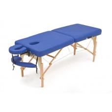 MET Coinfy PROFESSIONAL 02 Стол массажный, на буковом каркасе, синий