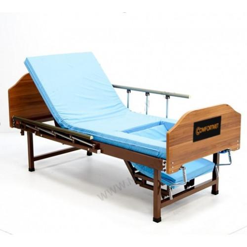 Кровать MET STAUT двух-функциональная медицинская, со складными боковыми ограждениями, на ножках