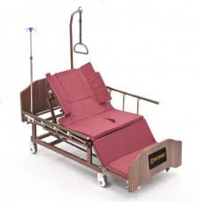 Функциональная кровать МЕТ REMEKS для ухода за лежачими больными с переворотом, туалетом и матрасом