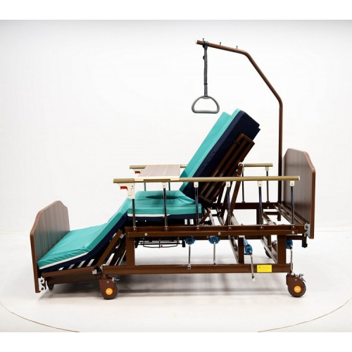 Механическая медицинская кровать МЕТ REMEKS XL  для ухода за лежачими больными с переворотом и туалетом, с увеличиной шириной ложа