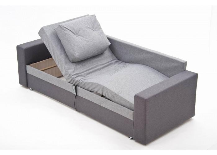 МЕТ JEN Комбинированный серый диван кровать с электроприводом в минималистичном скандинавском дизайне