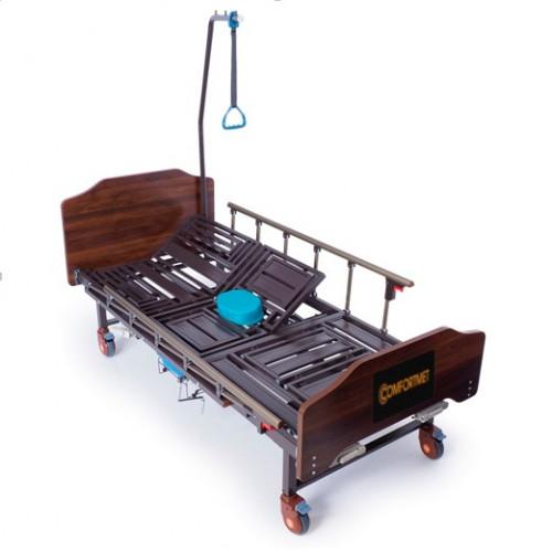 Кровать медицинская MET KARDO для лежачих больных, механическая, с туалетным устройством